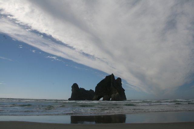 Wharariki Beach