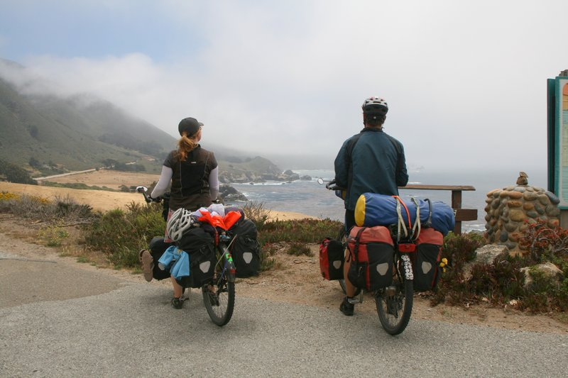cycling on highway 1