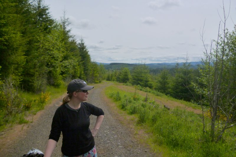 cycling in Clatsop State Forest