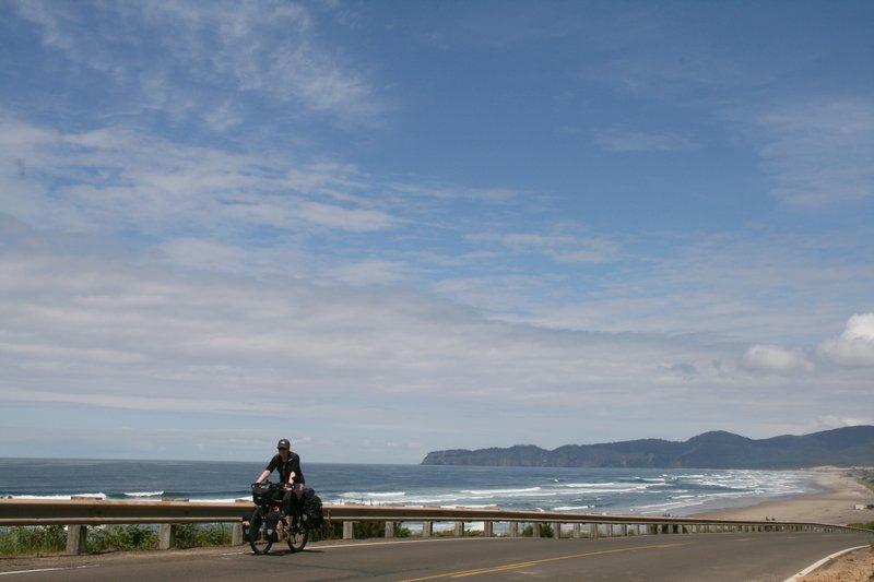 cycle touring on Oregon coast