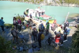 cycle tourer fishing boat crossing