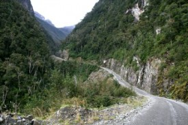 cycling Carretera Austral hilly road