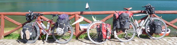 surly long haul truckers and extrawheel on the Carretera Austral