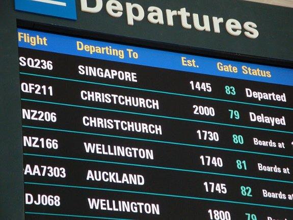 delayed flight at brisbane airport