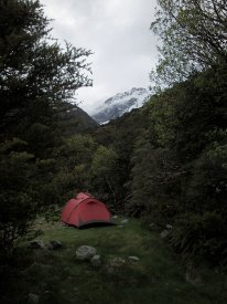 mt cook, new zealand, doc camping
