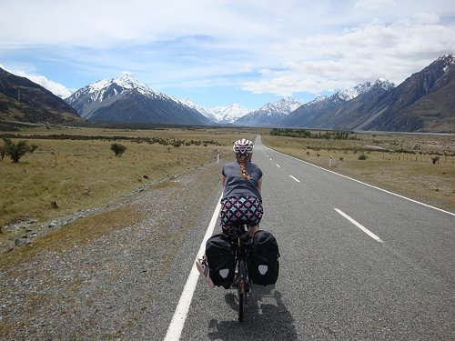 cycling to mt cook